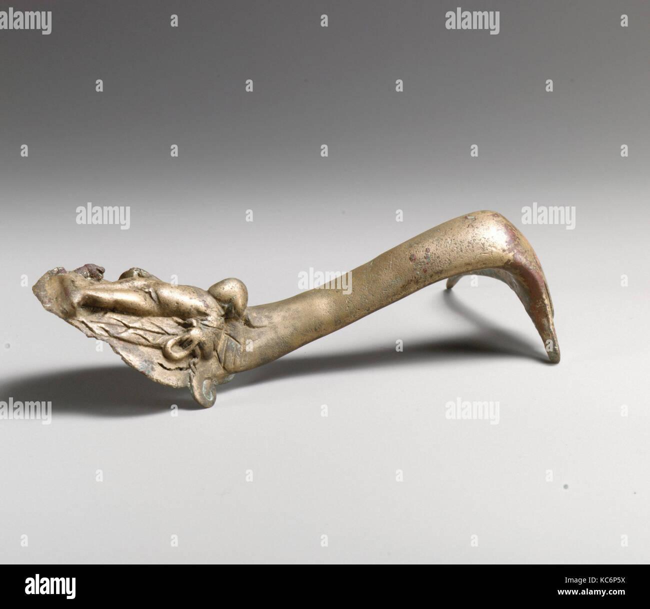 Maniglia con Eros, bronzo, H.: 6 a. (15,2 cm), bronzi Immagini Stock