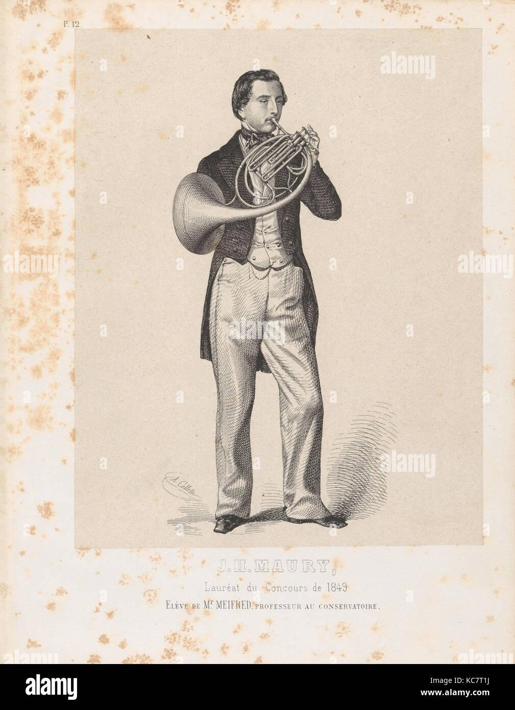 Lastre Litografiche, Alexandre Désiré Collette, 1850 Foto Stock