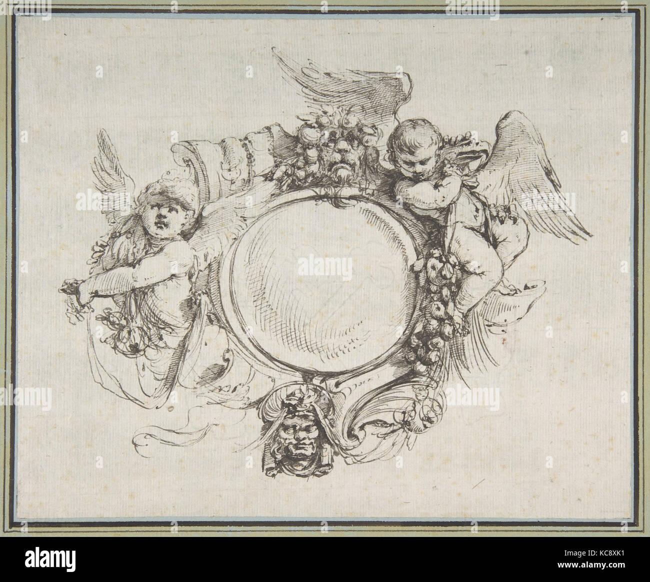 Design per un cartiglio con una variante, Carlo Bianconi, 1732-1802 Foto Stock