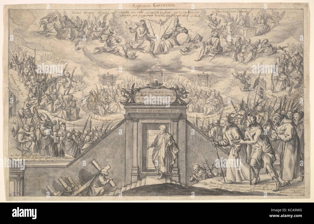 Il regno dei cieli, anonimo, Tedesco, xvii secolo tardo XVII secolo Immagini Stock
