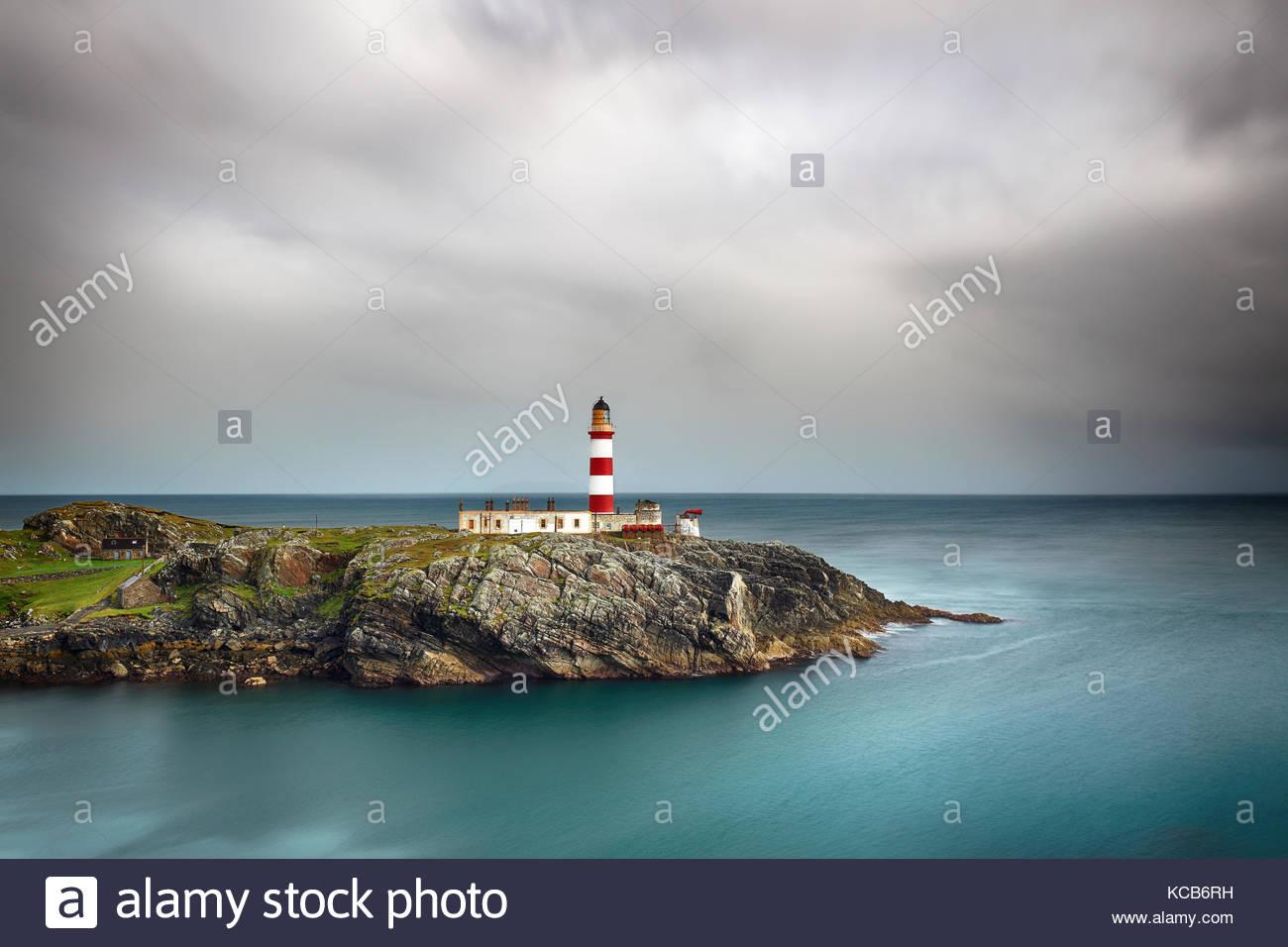 Eilean Glas faro dell'isola di Scalpay, Western Isles, Scozia. Foto Stock