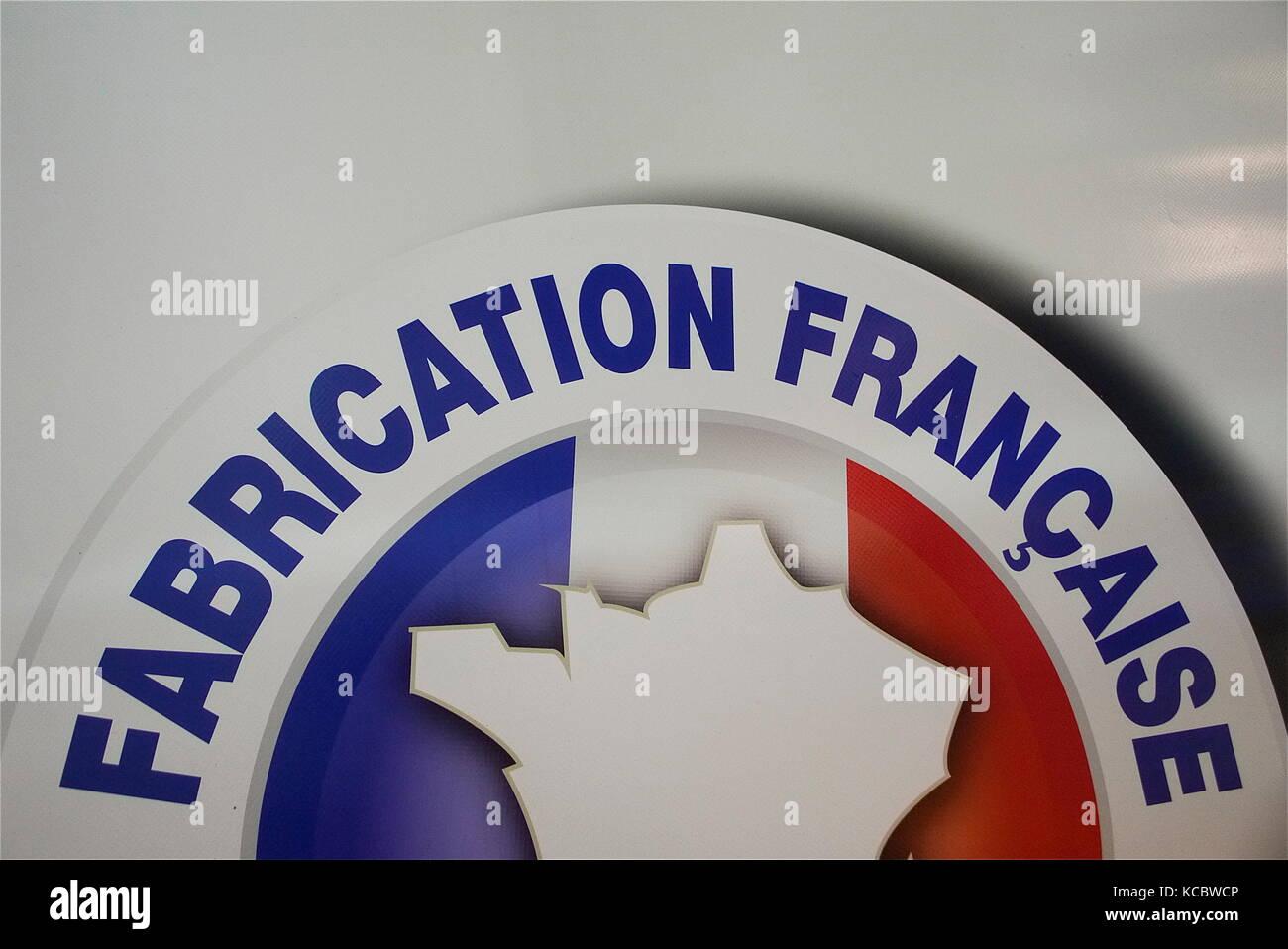 Automobili e camion loghi, fiera solutrans, CHASSIEU, Francia Immagini Stock