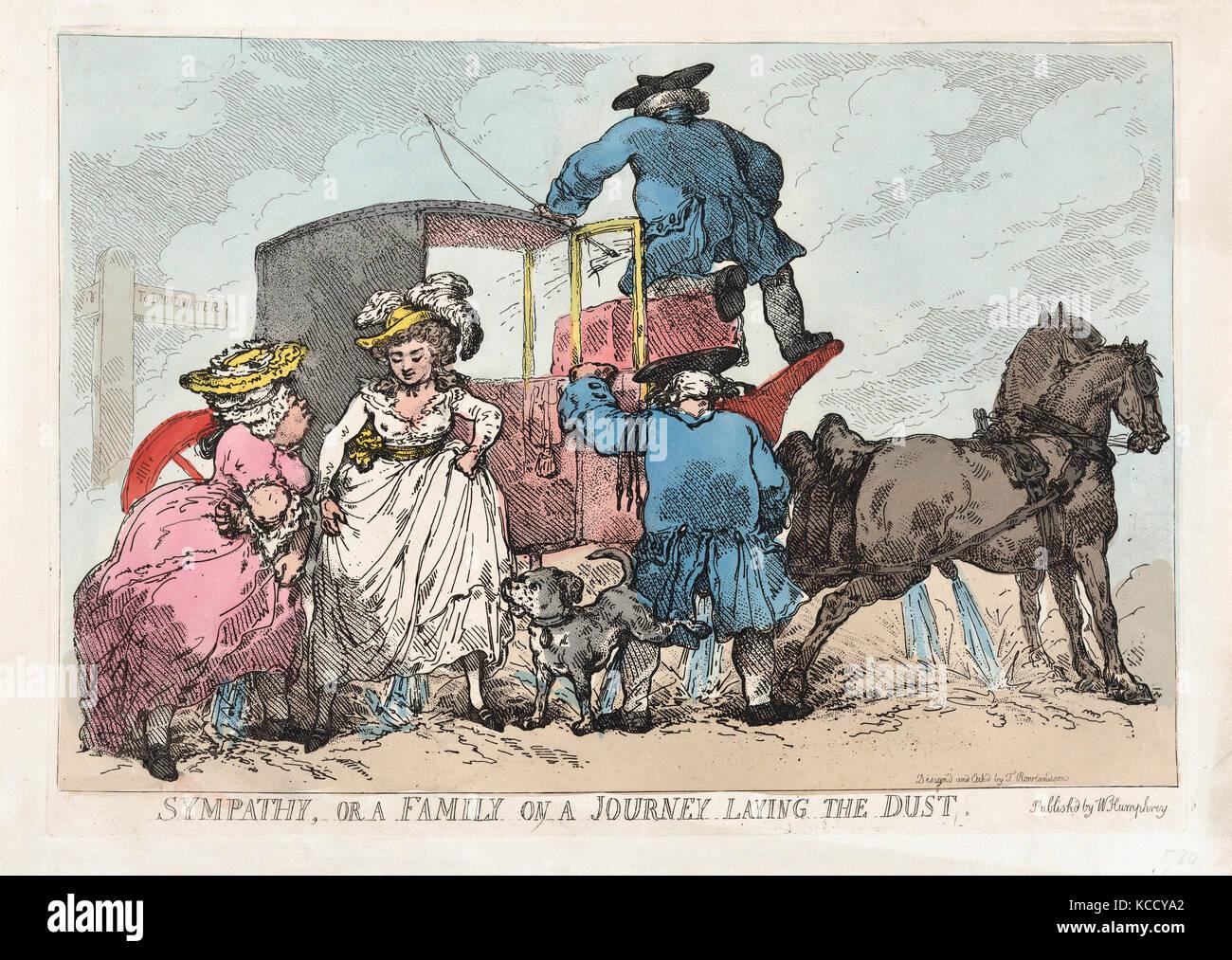 Disegni e Stampe, Stampa, simpatia, o una famiglia su un viaggio che stabilisce la polvere, editore, artista William Immagini Stock