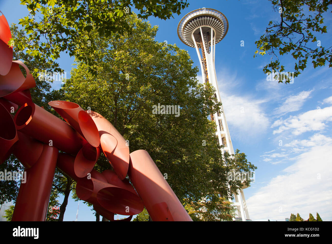 Lo Space Needle a Seattle Washington Immagini Stock