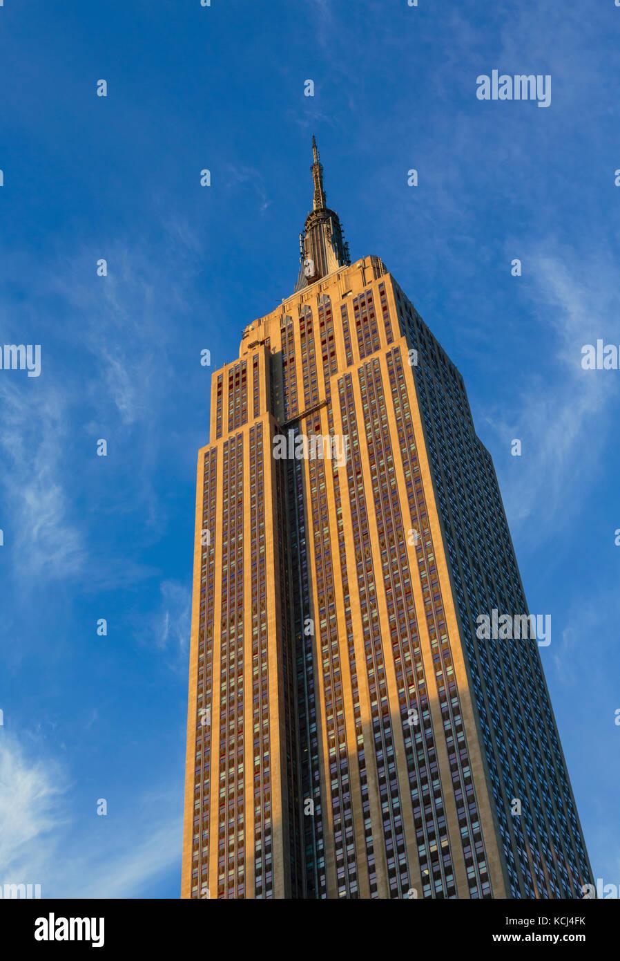 La città di new york, nello stato di new york, Stati Uniti d'America. l' Empire State building grattacielo. Immagini Stock
