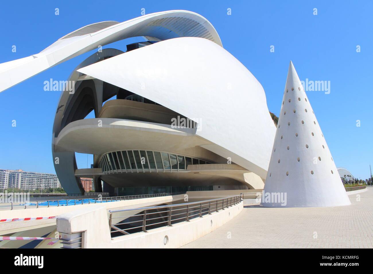 Città delle arti e delle Scienze di Valencia,Spagna Immagini Stock