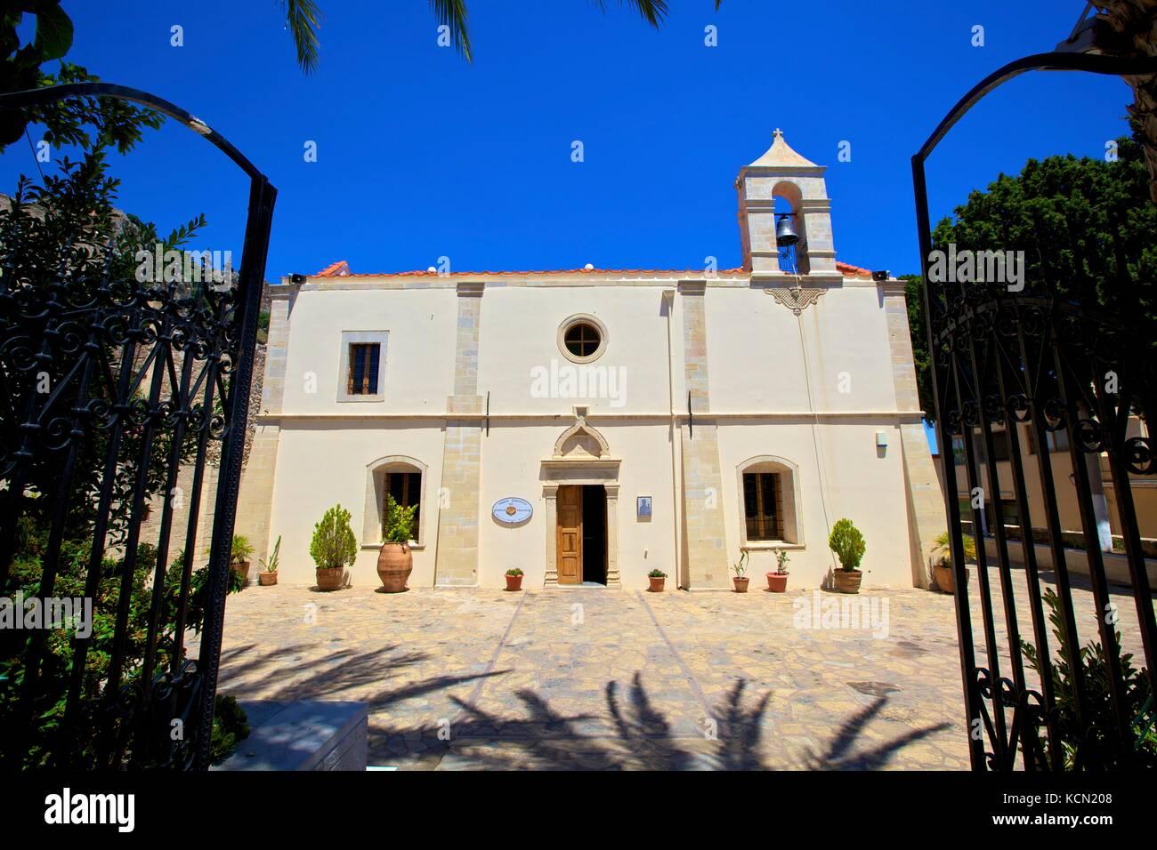 Odigitria, Nostra Signora del cammino, Kritsa, Creta, Isole Greche, Grecia, Europa Immagini Stock