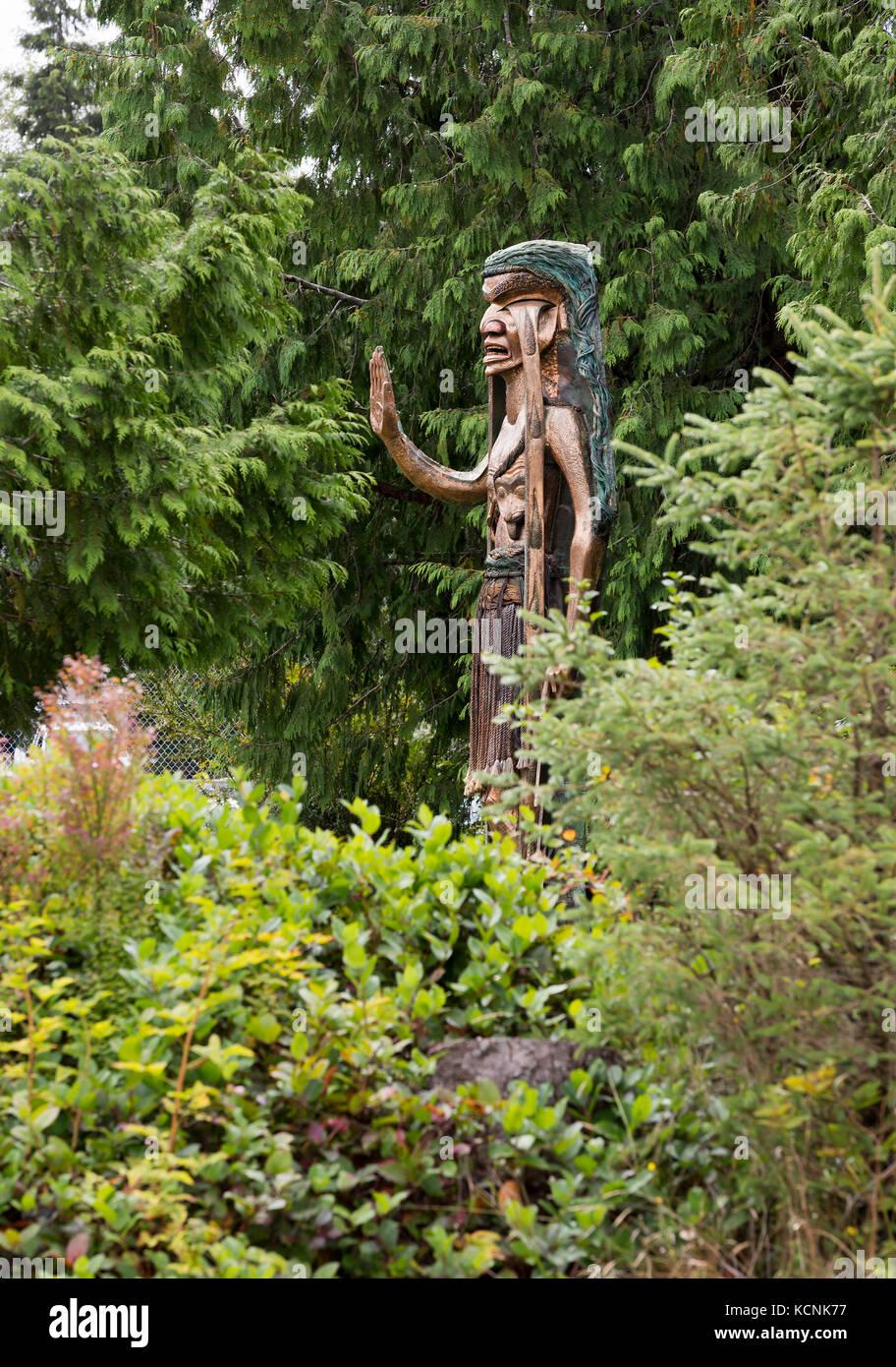 Carving iconica piange il cedro donna è stato scolpito da godfrey stephens per protestare login clayoquot sound Immagini Stock