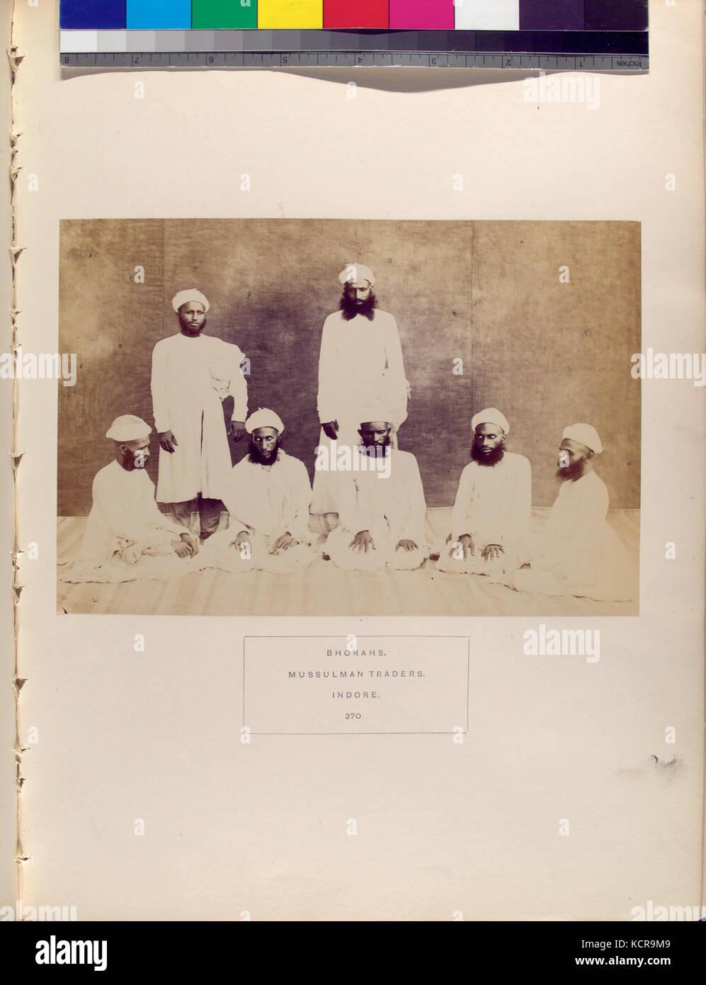 Bhorahs, Mussulman commercianti,Indore (NYPL B13409080 1125619) Immagini Stock