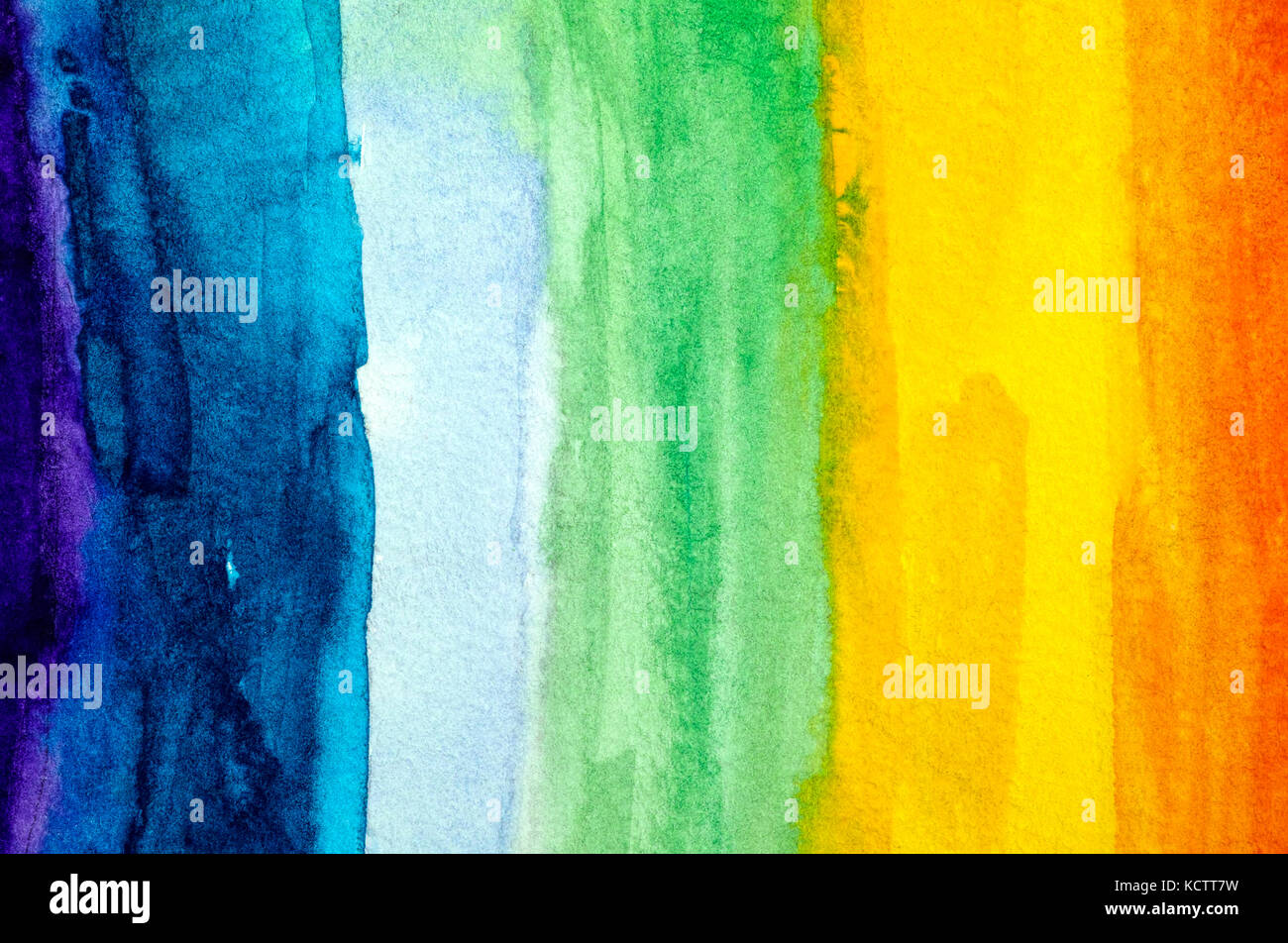 Rainbow background. acquerello disegno a mano. close-up. Immagini Stock