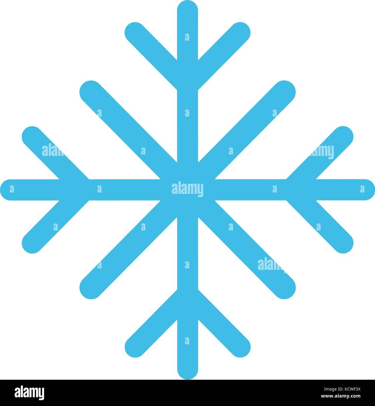 Il simbolo del fiocco di neve in inverno immagine icona Immagini Stock