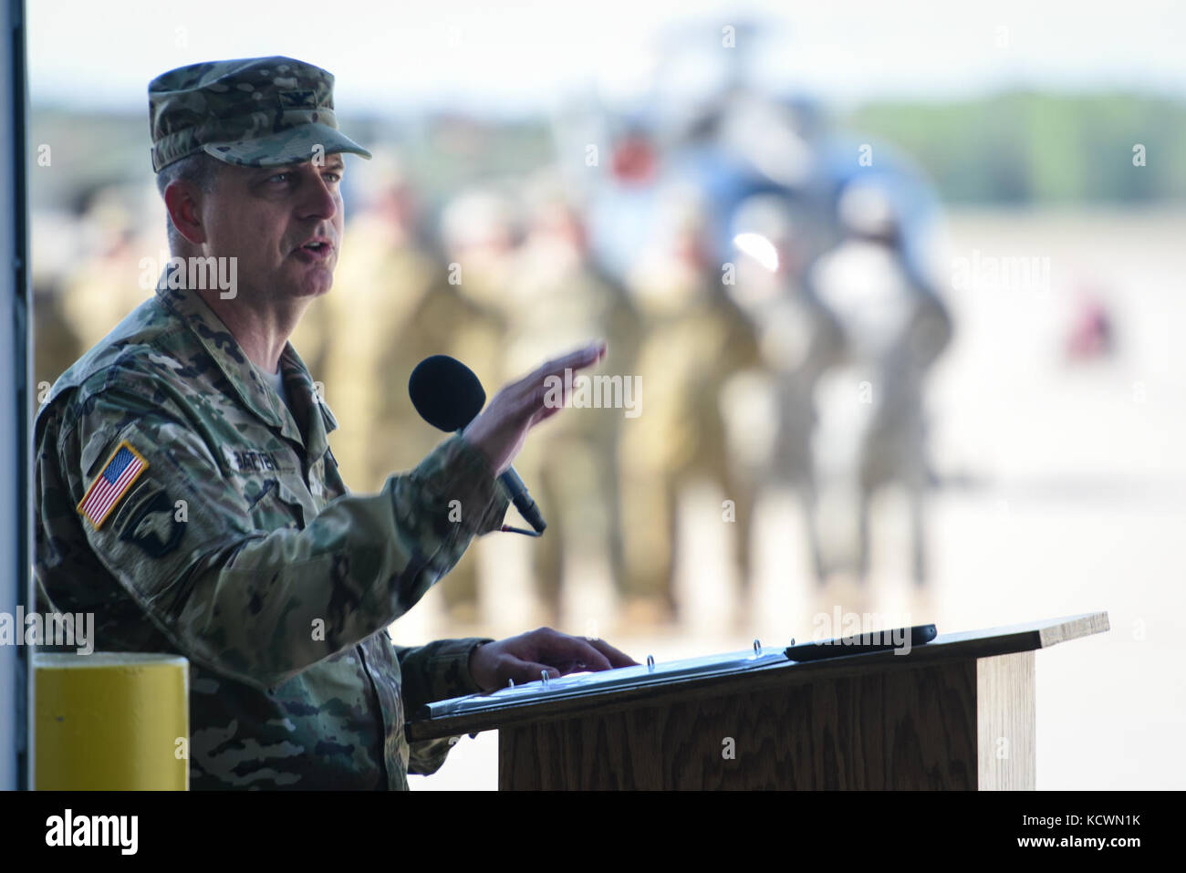 Carolina del sud esercito nazionale soldati di guardia con 59e aviazione comando di truppa di partecipare a un cambiamento Immagini Stock