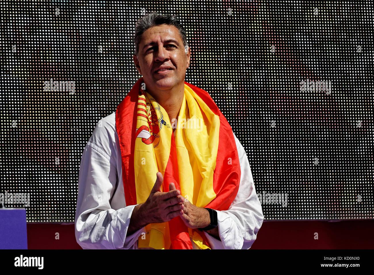 Barcellona, in Catalogna, Spagna. Il giorno 08 ottobre 2017. Xavier Garcia Albiol, Presidente del Partido popular Immagini Stock