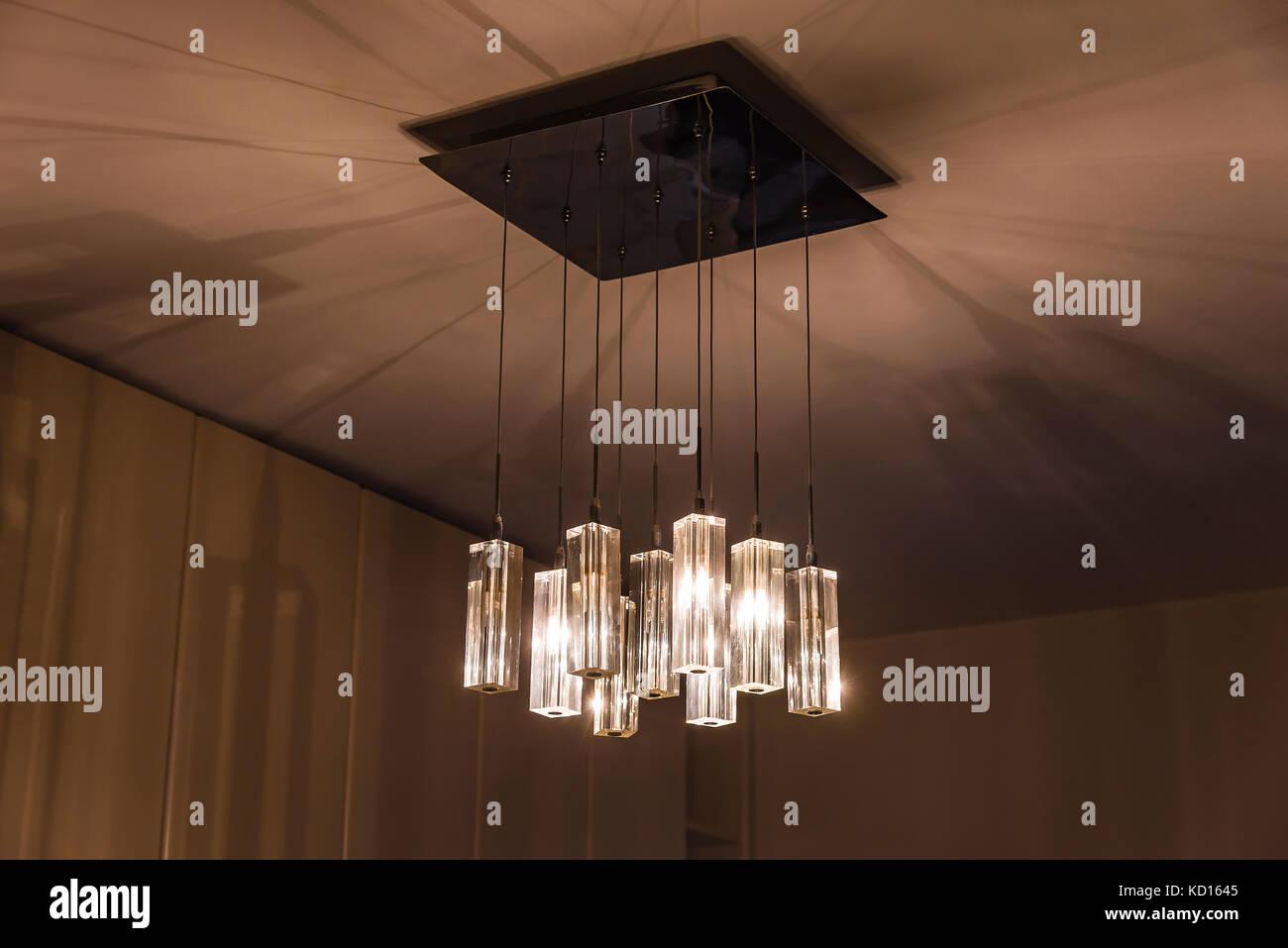 Stile moderno decor illuminazione lampadario di lampade pendenti