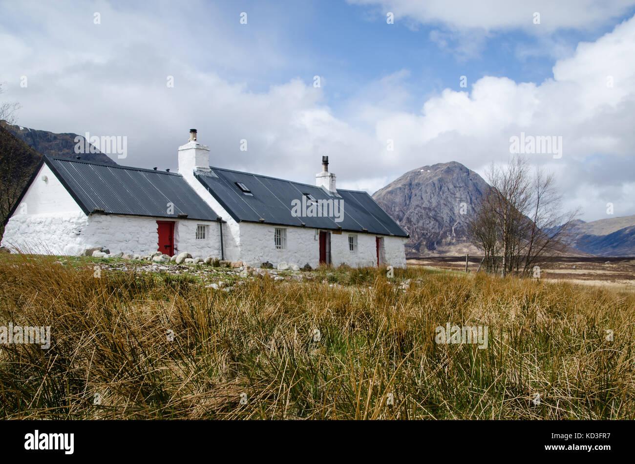 Black rock cottage glencoe Scozia Scotland Immagini Stock