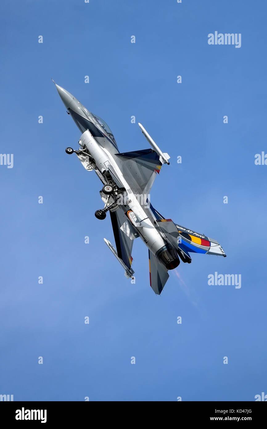 General Dynamics F-16a mlu Fighting Falcon, 350 Squadrone, belga componente aria, florennes, al 2014 Royal International Immagini Stock