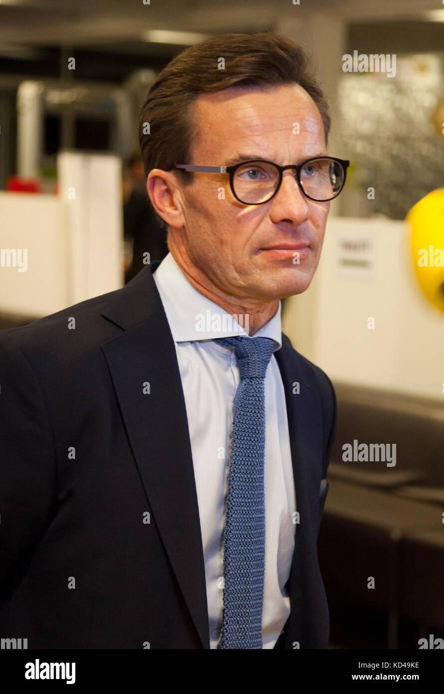 La svedese elezione anno 2018 iniziò con un party leadership dibattito in televisione svedese,il nuovo moderaternas Foto Stock