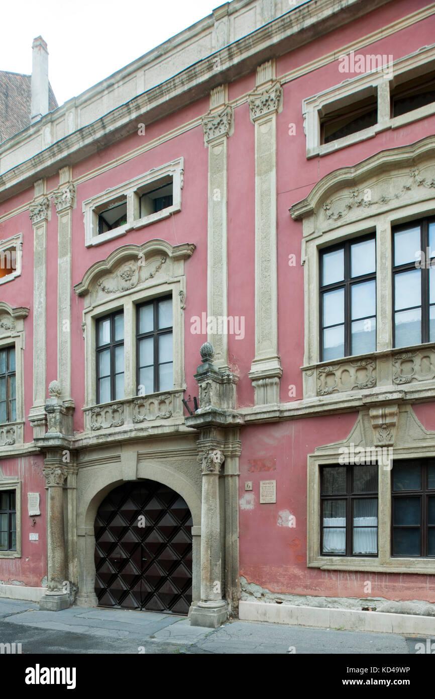 Ungarn, Westungarn, Sopron, Kirchgasse 6 (Templom utca), Barockpalast, derzeitige Die Fassade stammt vom Anfang Immagini Stock