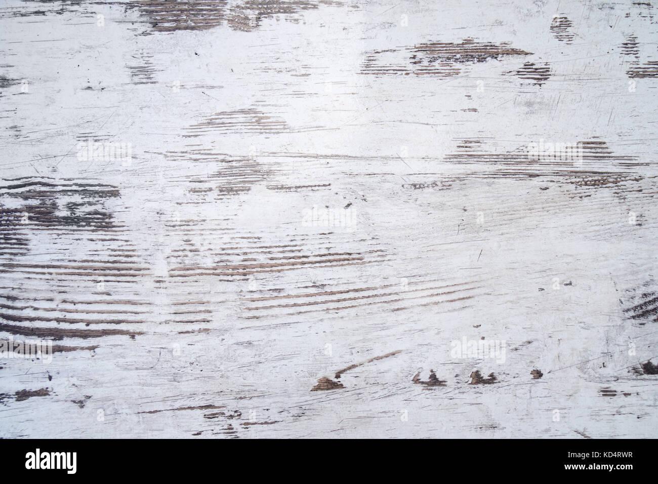 Invecchiato in legno bianco texture di sfondo Immagini Stock