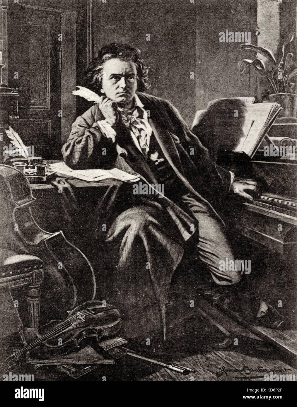 Ludwig van beethoven ritratto del compositore tedesco al for Compositore tedesco della musica da tavola