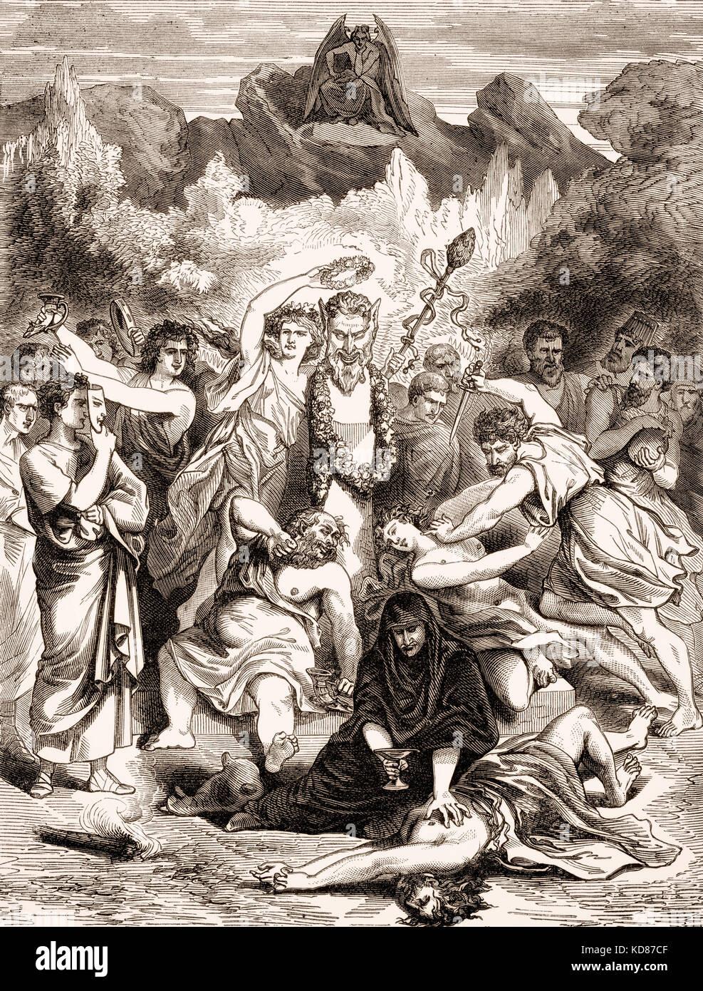 Romani durante la decadenza, la caduta dell Impero romano d occidente Immagini Stock