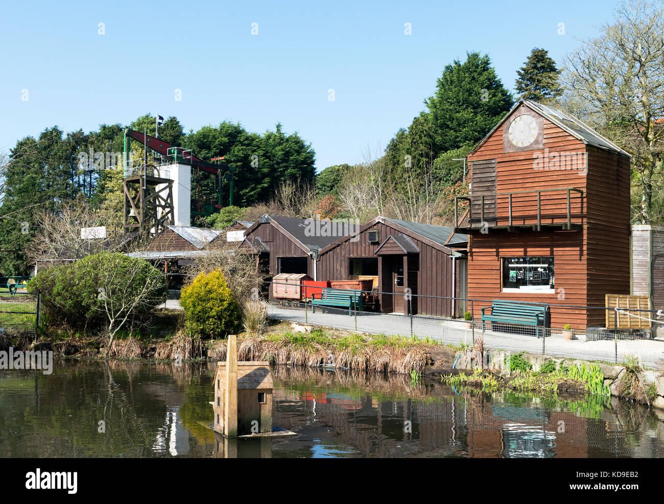 Poldark miniera di stagno una storica attrazione turistica vicino a Helston in Cornovaglia, Inghilterra, Regno Unito, Immagini Stock