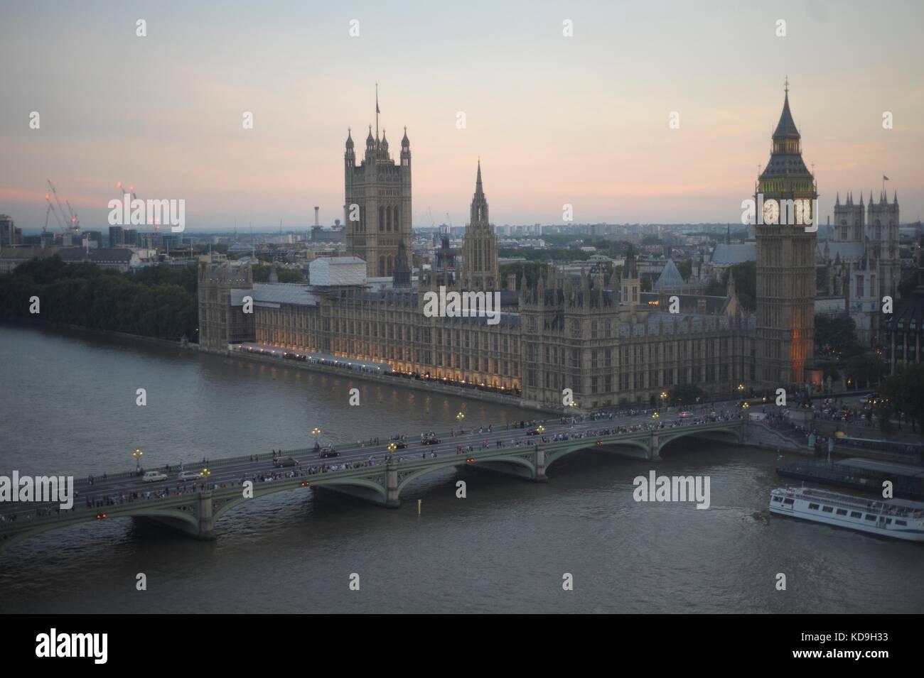Vedute aeree di Londra Immagini Stock