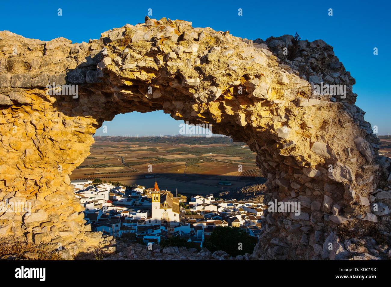 La Estrella castello, teba. provincia di Malaga, Andalusia. Spagna del sud Europa Immagini Stock