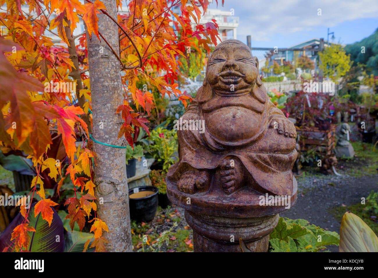 Giardino accento, villaggio di Steveston, Richmond, British Columbia, Canada. Immagini Stock