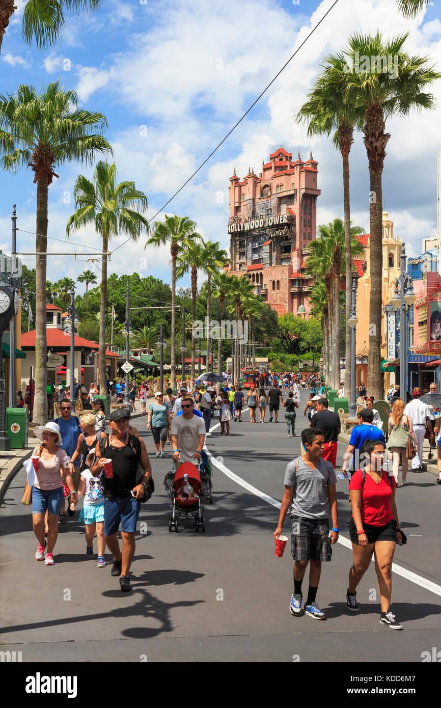 Holywood Tower Hotel,Resort Walt Disney World, il parco a tema di Orlando, Florida, Stati Uniti d'America Immagini Stock