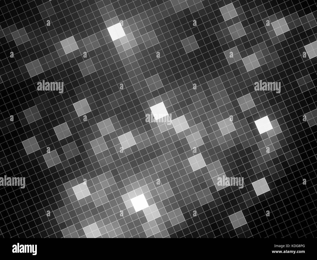 Incandescente piastrelle in bianco e nero la texture generata da