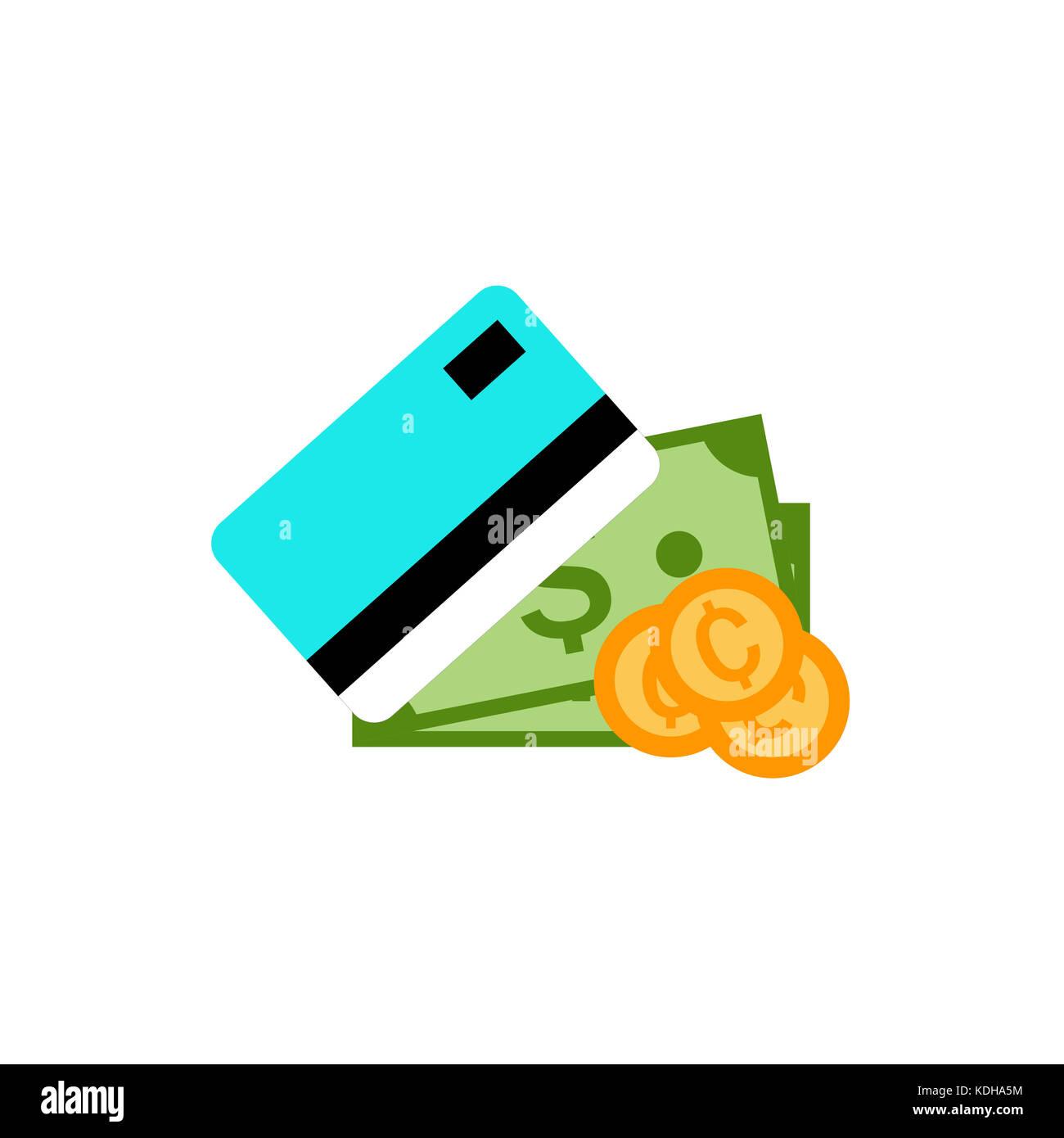 Il metodo di pagamento semplice illustrazione grafica Immagini Stock