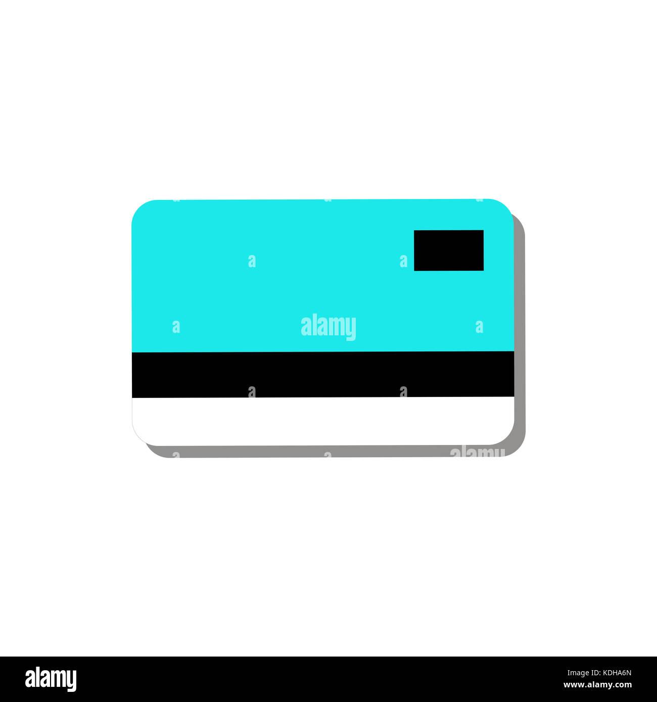 Credito Carta di debito di semplice illustrazione grafica Immagini Stock