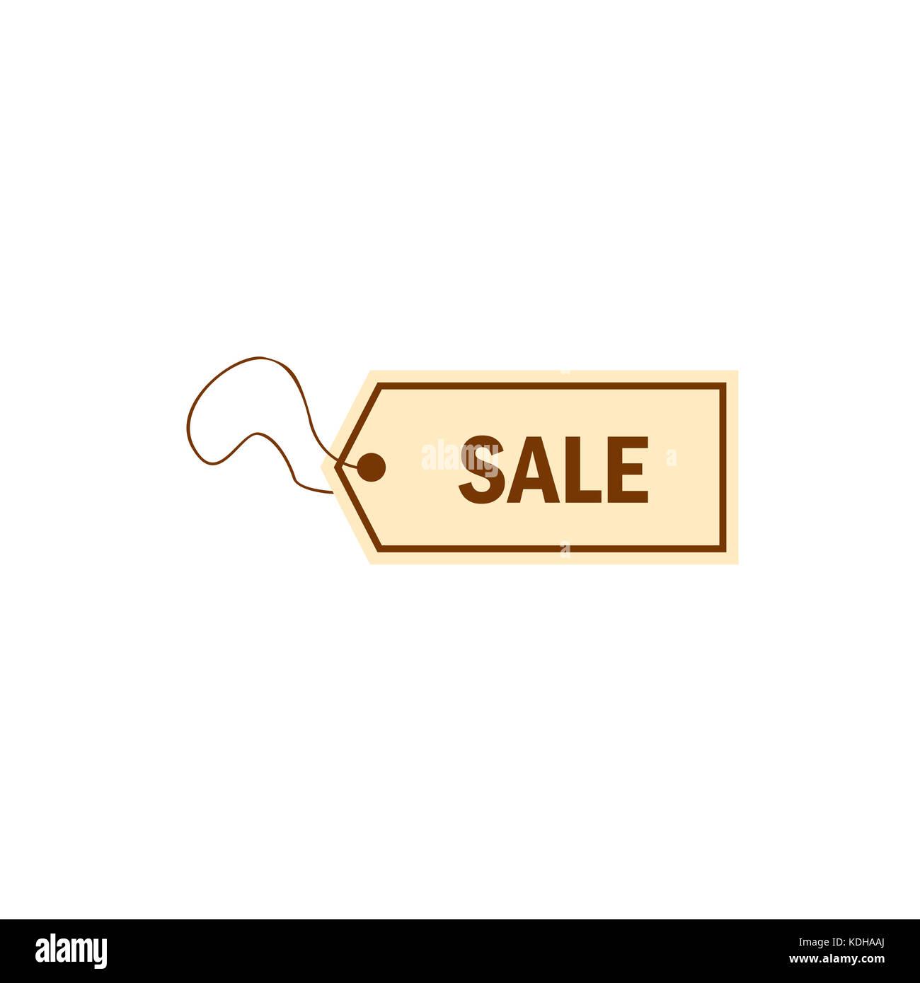 Vendita discount etichetta grafica semplice Immagini Stock