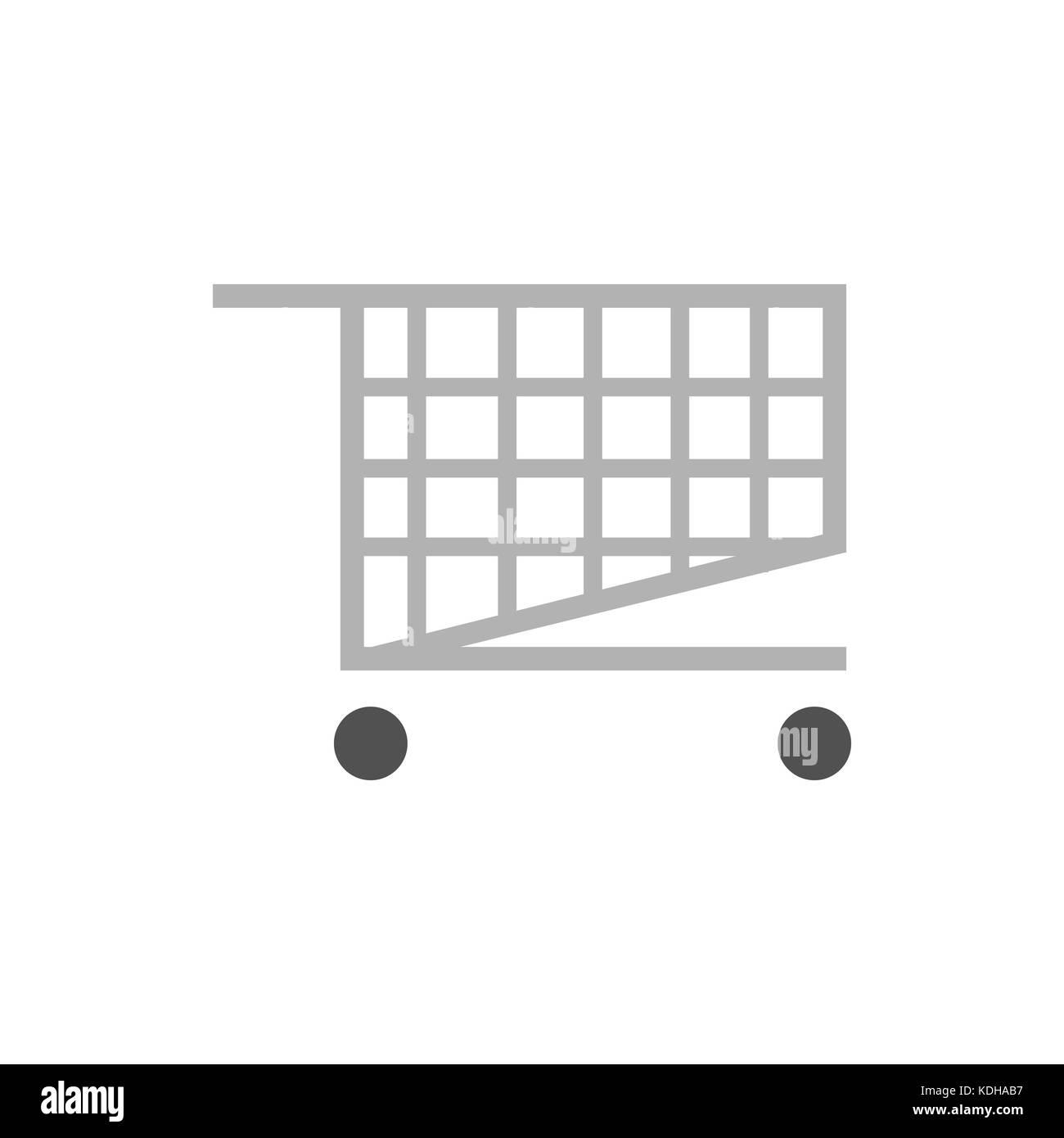 Carrello spesa semplice illustrazione grafica Immagini Stock