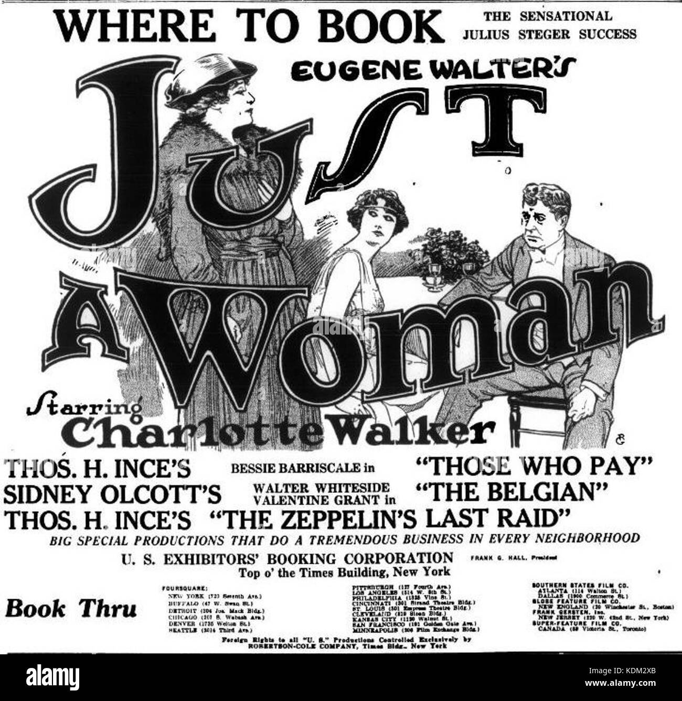 Solo una donna (1918) 2 Immagini Stock