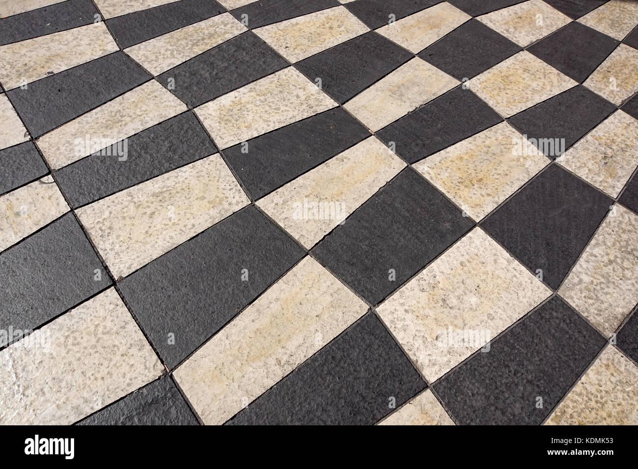 Outdoor street piastrelle con disegno geometrico.la texture della