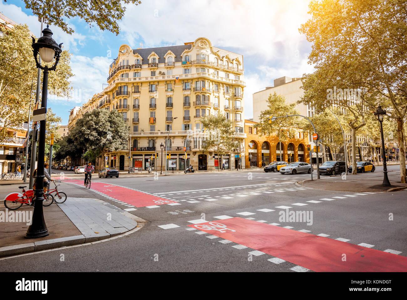 Barcellona vista città Immagini Stock