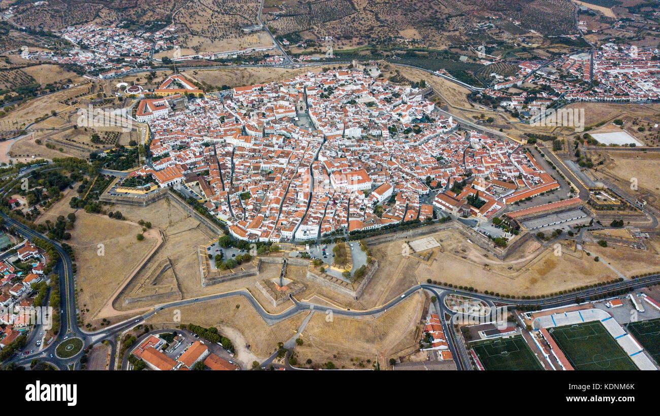 Bastian Fort, le mura della città, castello di elvas, Portogallo Immagini Stock