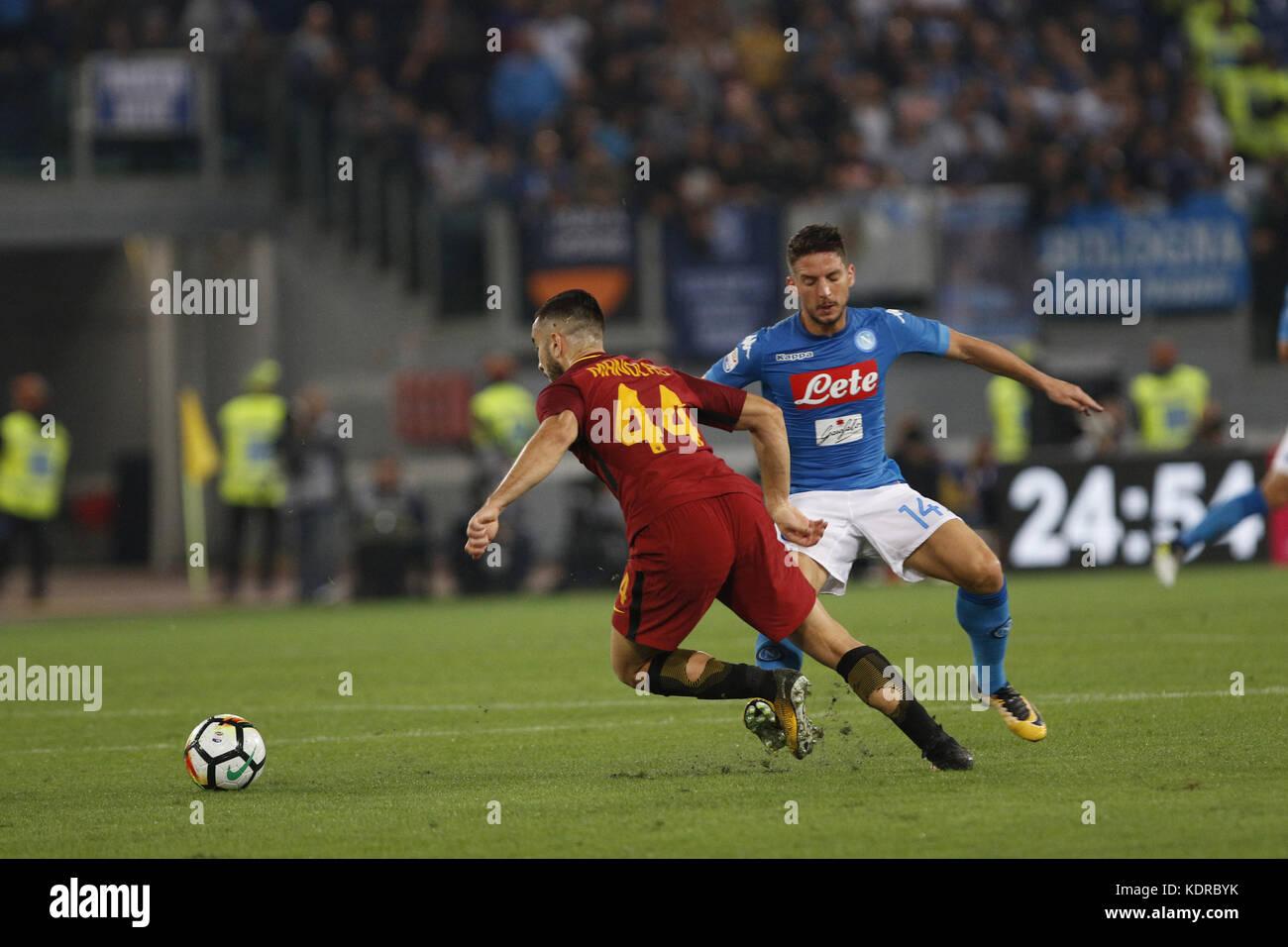 Italia Roma 14 Ottobre 2017 Una Serie Di Una Partita Di Calcio Allo Stadio Olimpico Tra Roma E Napoli Questa Sera Hanno Incontrato Nel Cosiddetto Derby Del Sud Di Roma E Napoli Roma Kostas