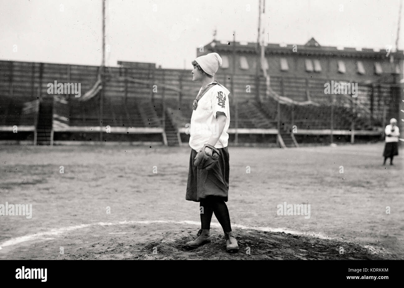 New York Giants femmina lanciatore di baseball circa 1913 Immagini Stock