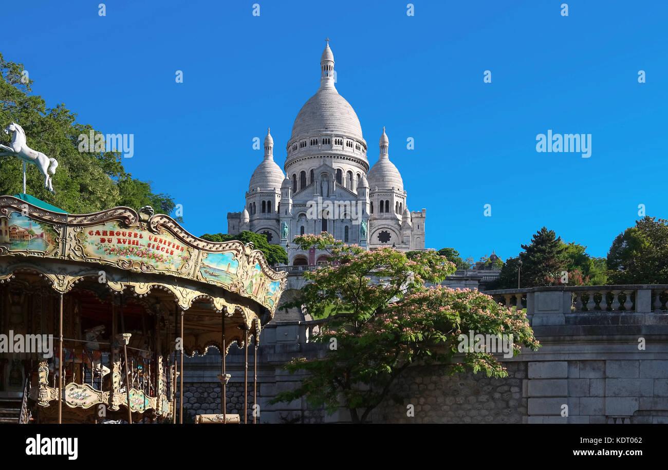 La basilica Sacré Coeur, Parigi, Francia. Immagini Stock