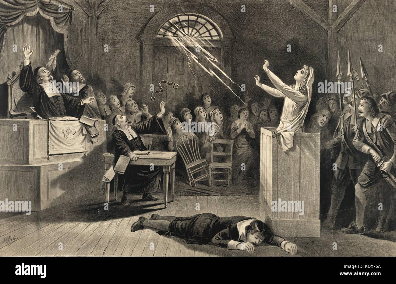 Salem processo alle streghe, 1692 - 1693 Immagini Stock