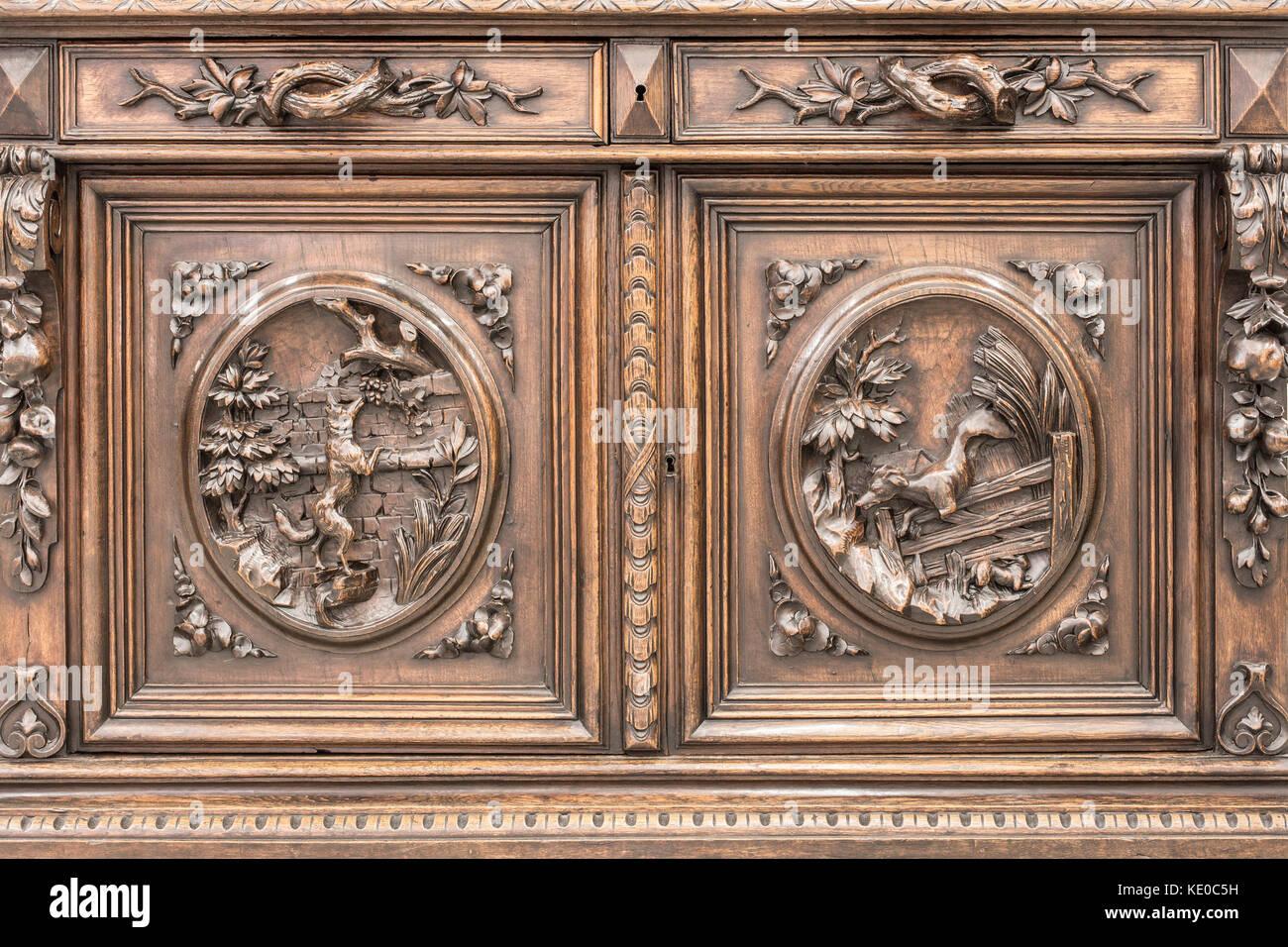 Credenza Antica Per Cucina : Parte della cucina antica credenza come esempio di bella incisione