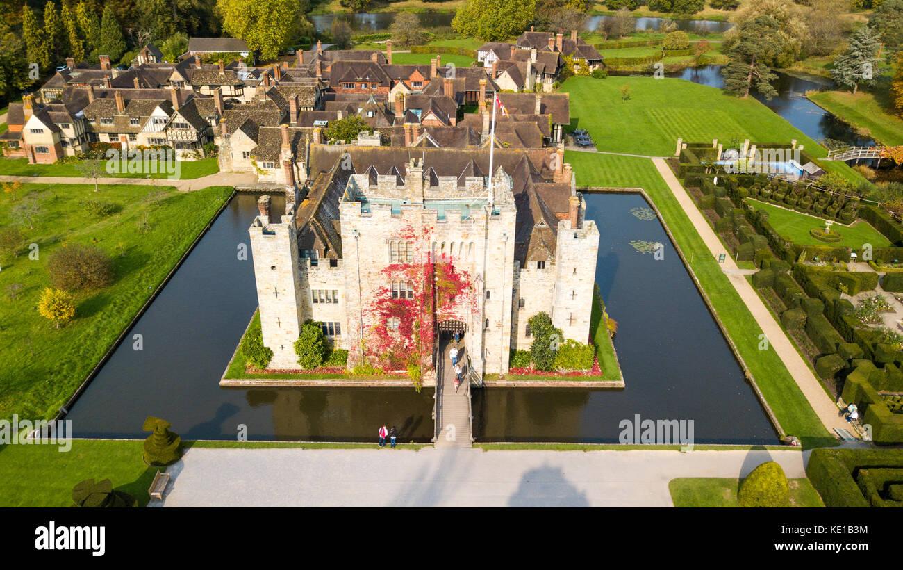 Il castello di Hever, Hever, Kent, Regno Unito Immagini Stock