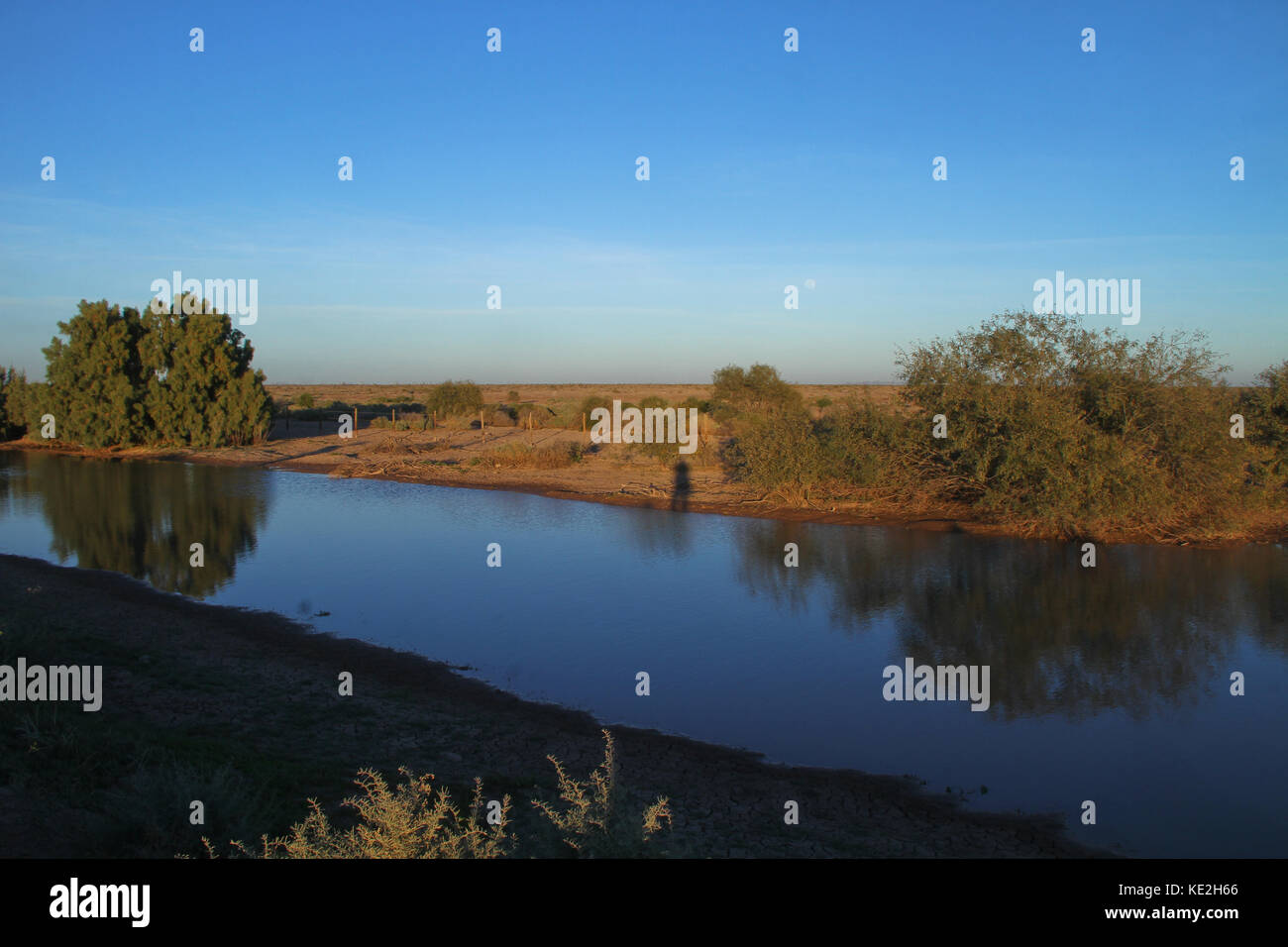 Acqua di stagno nel deserto di san nicolas, utilizzare: la coltivazione di specie marine in azienda..*lunedì*06*/Feb/201*.***foto:personale/nortephoto**.*n*vendita*a*thir Immagini Stock
