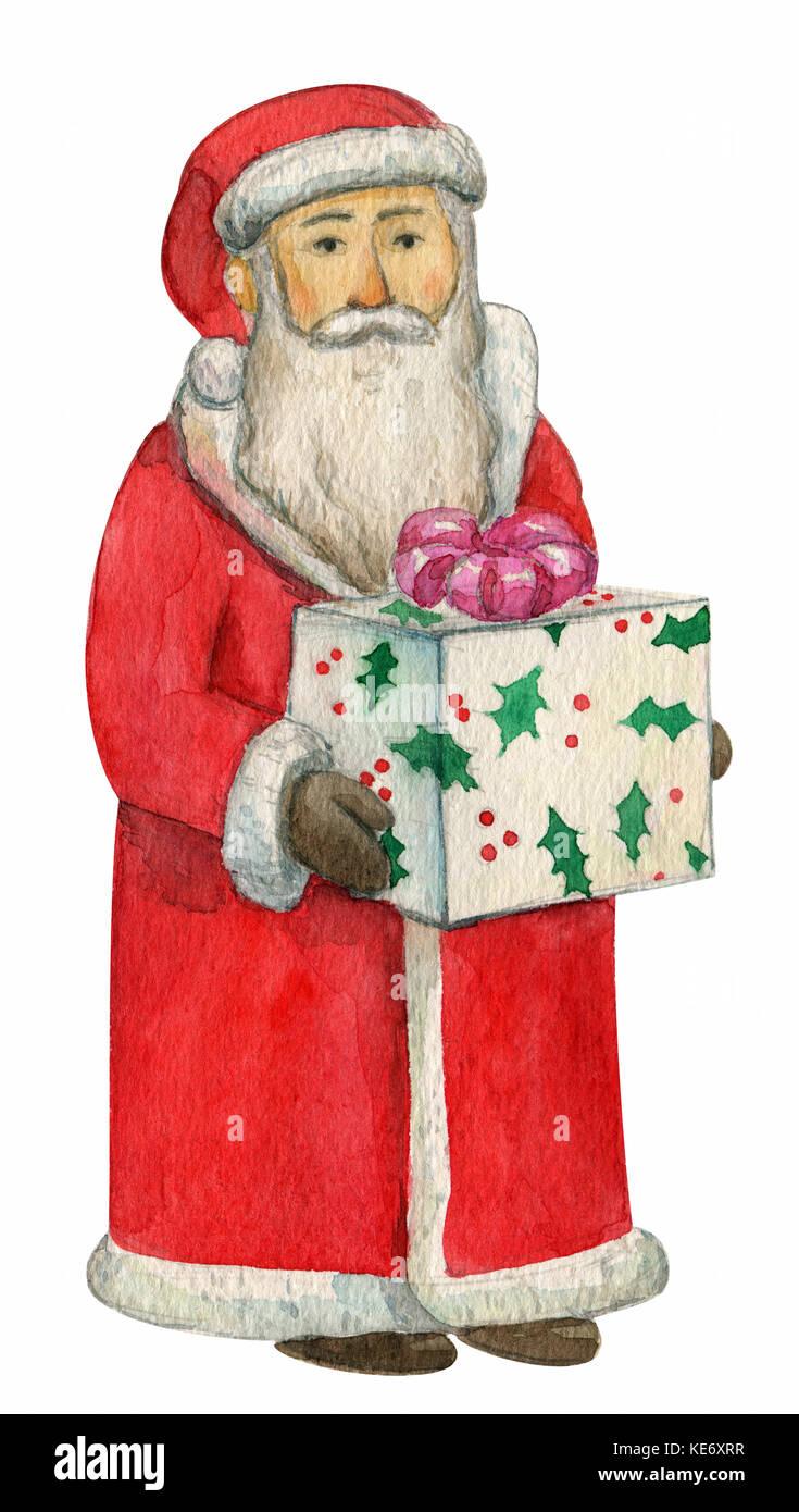Percorso Babbo Natale.Carino Babbo Natale Augurando Un Buon Natale E Felice Anno Nuovo Con