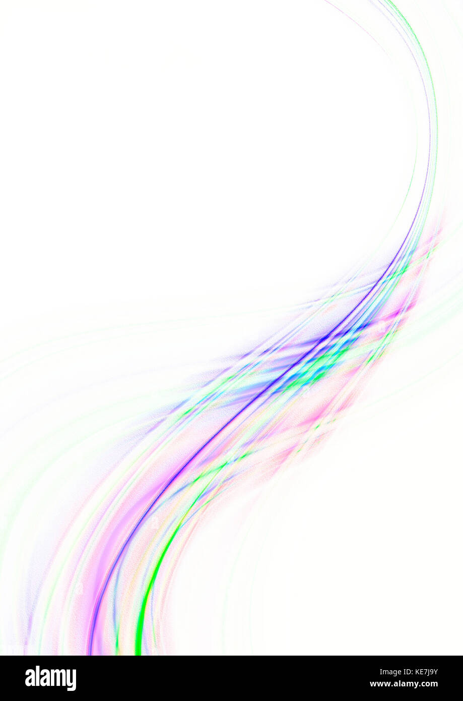 Curva Rosa Viola Onda Trasparente è Coperto Con Intersecante Strisce
