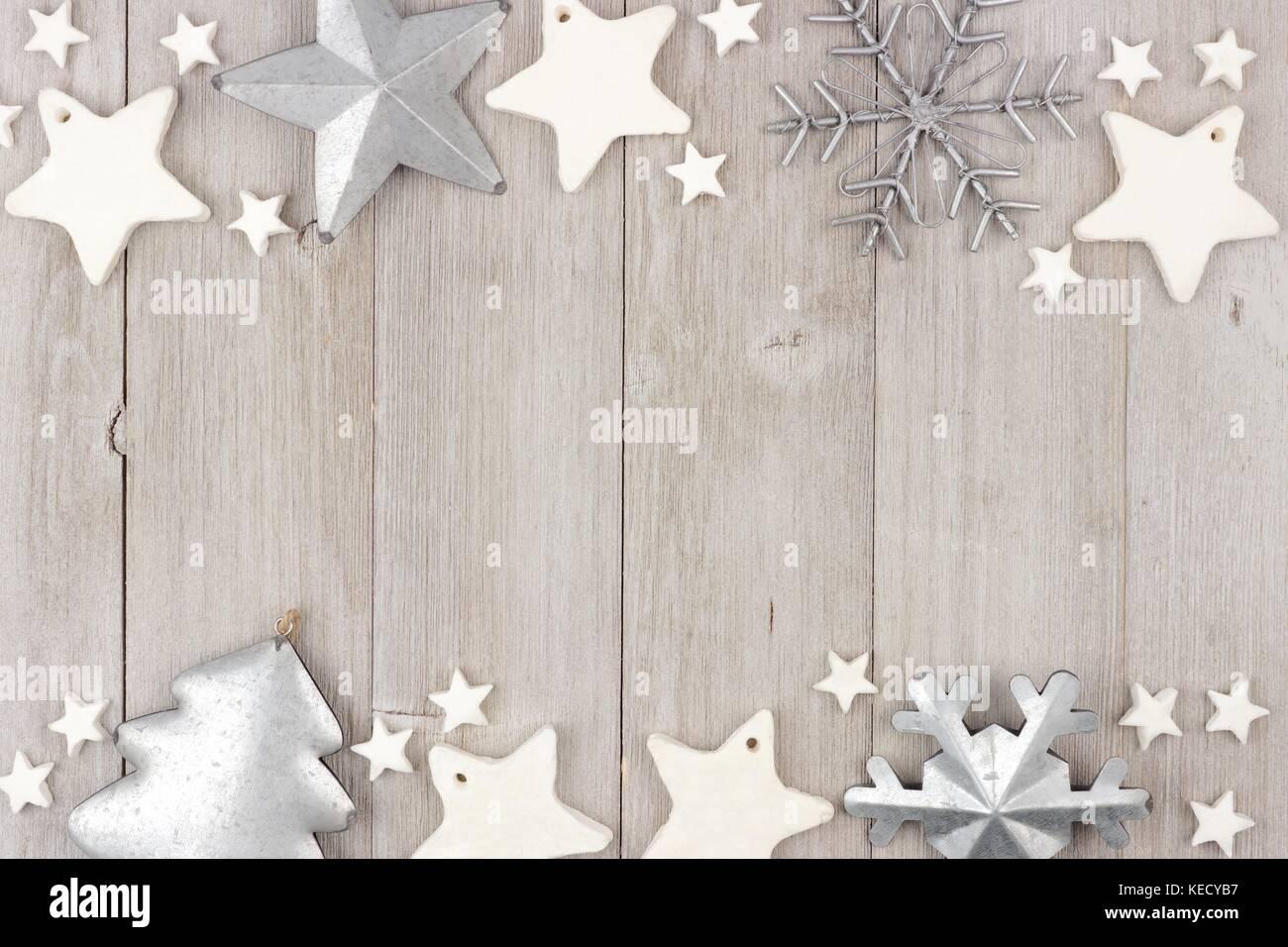 Shabby Chic Natale : Natale doppio bordo con shabby chic argilla fatti a mano e