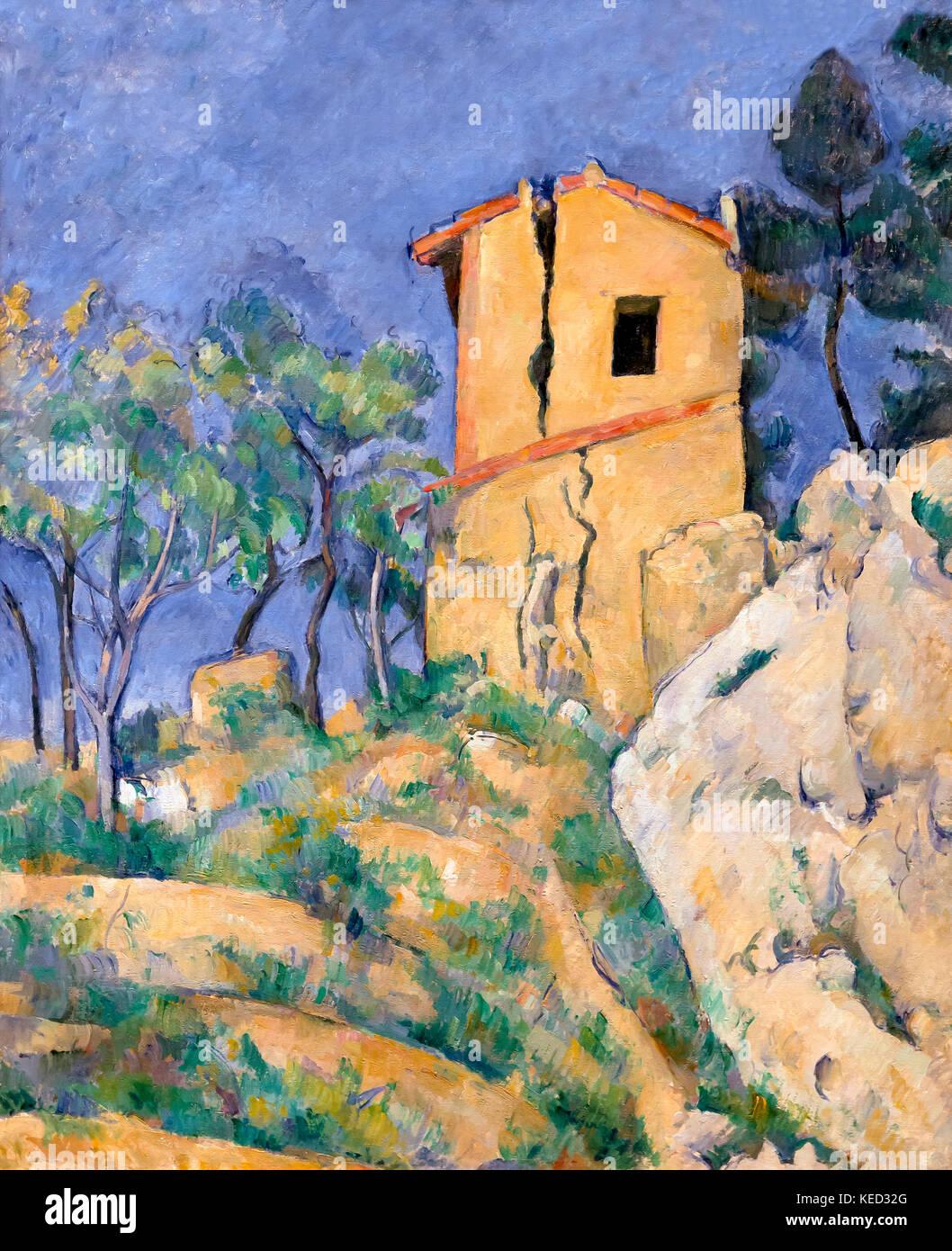 La casa con le pareti incrinate, Paul Cezanne, 1892-1894, Metropolitan Museum of Art, Manhattan, New York City, Immagini Stock